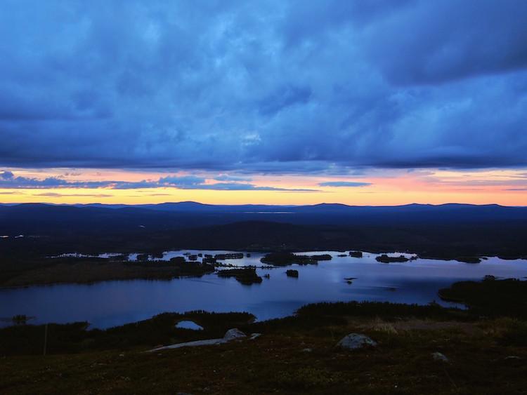 lapland zomervakantie zonsondergang