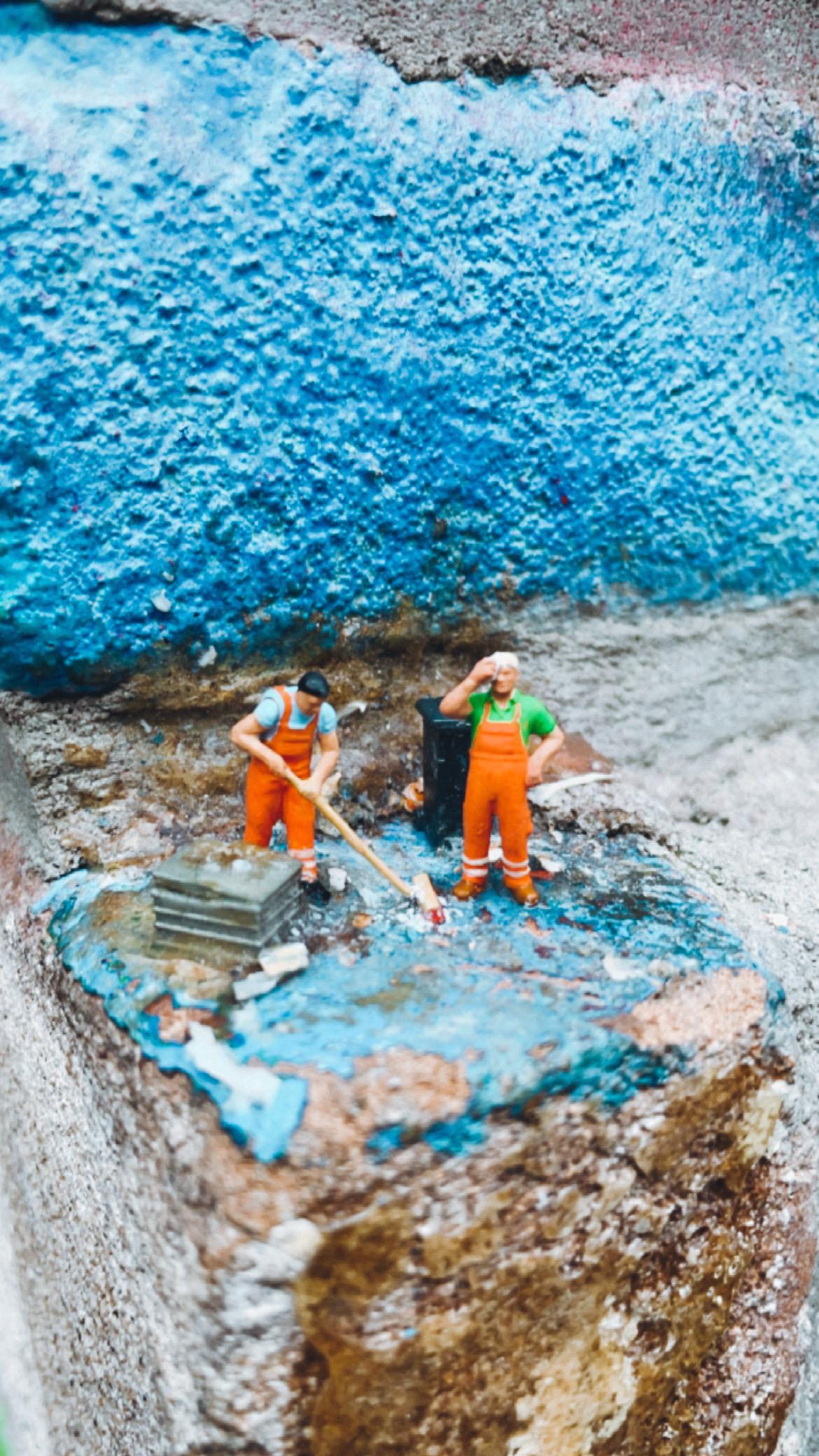 leeuwarden streetart miniature people