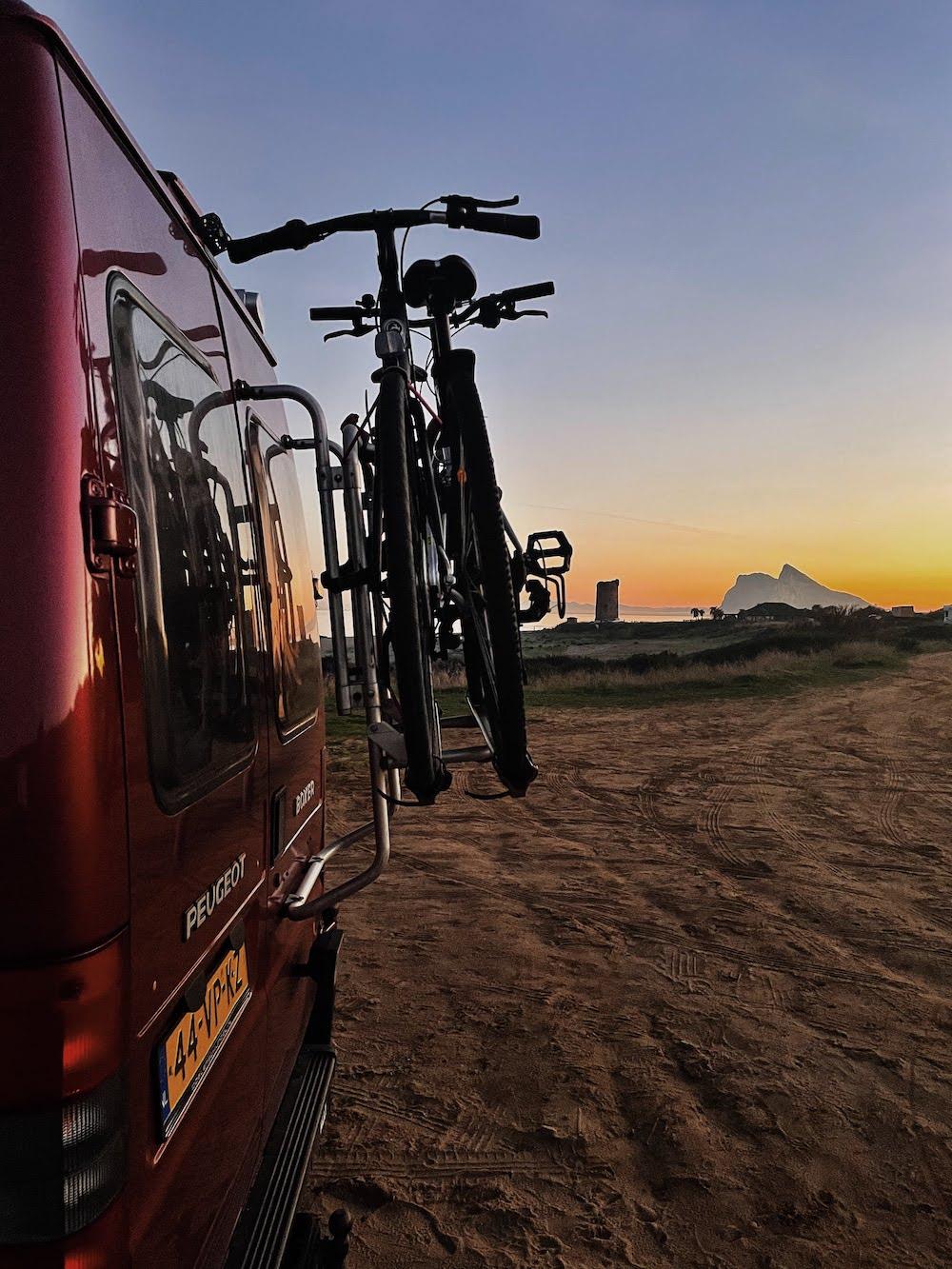 leven in een camper fietsen