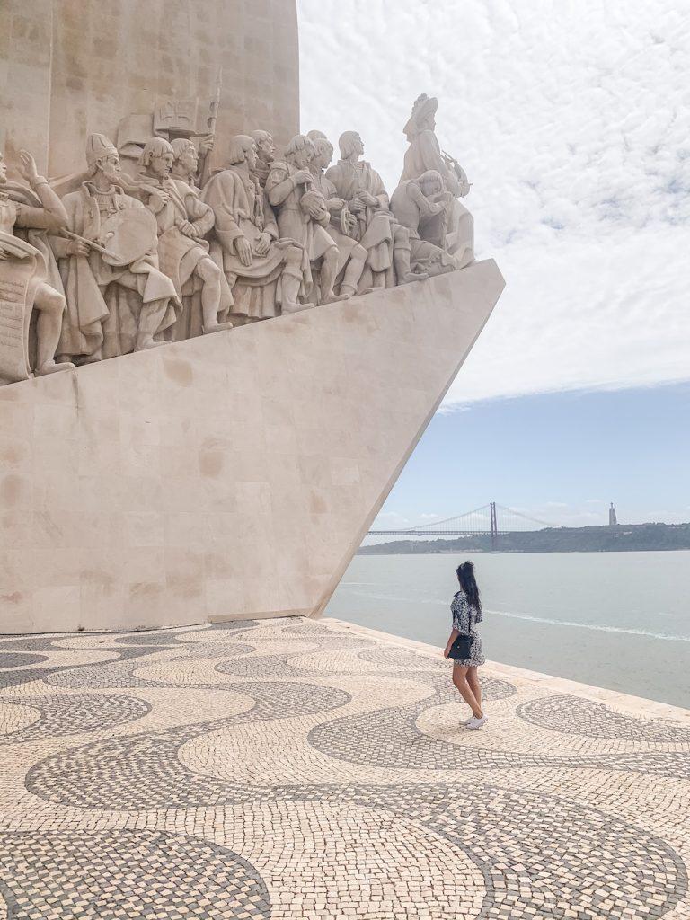 lisboa tipa monument van de ontdekking