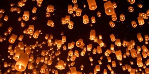 loy krathong feestdag thailand