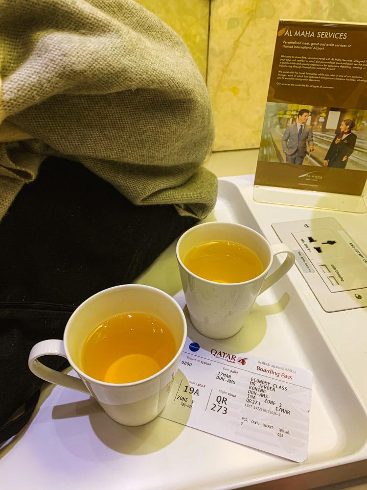 luchthaven lounge qatar doha