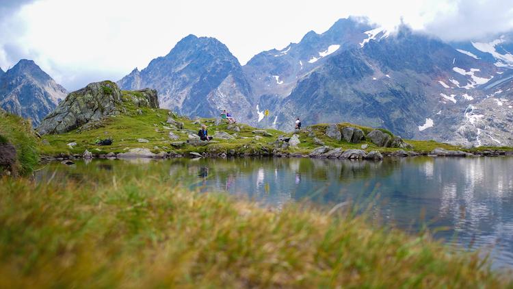 meer zomervakantie stubaital Hiken bij gletscher