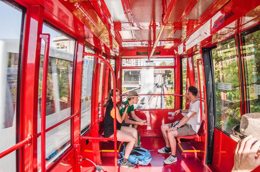 met de metro in Perugia umbrie
