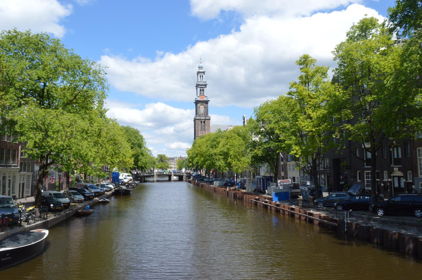mooiste plekken nederland Amsterdamse grachten met Westerkerk