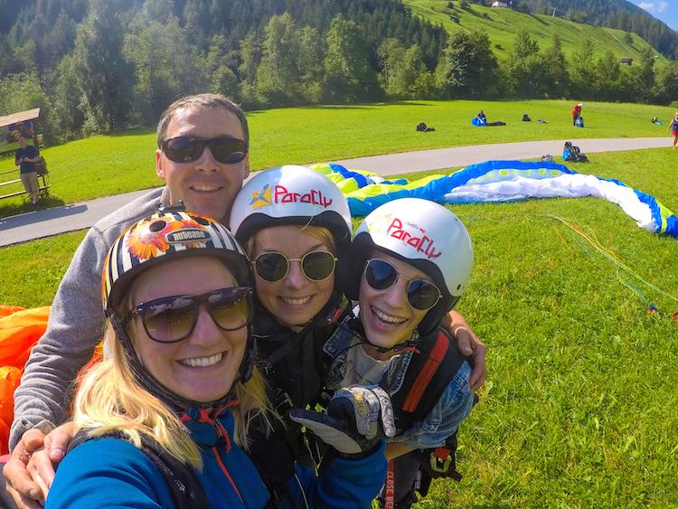 na het paragliden in stubai zomer