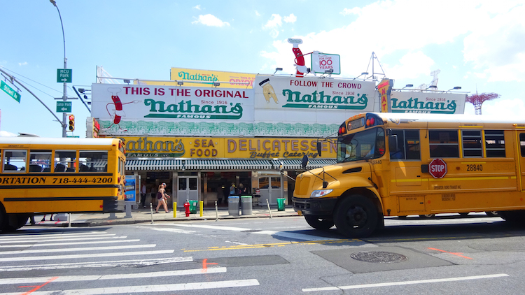 new york coney island hot dogs nathan's