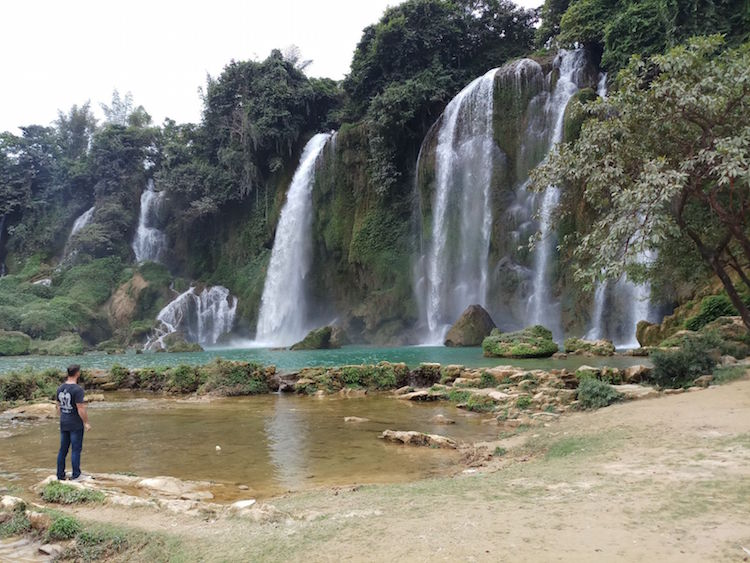 noord vietnam Ban Gioc Waterfall