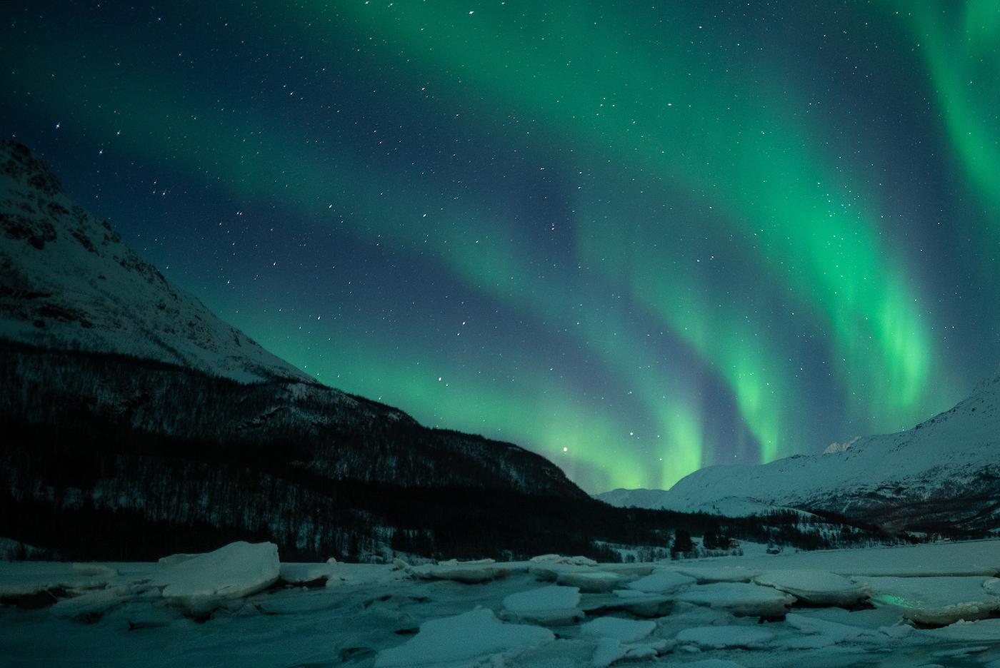 noorderlicht Tromso in de winter