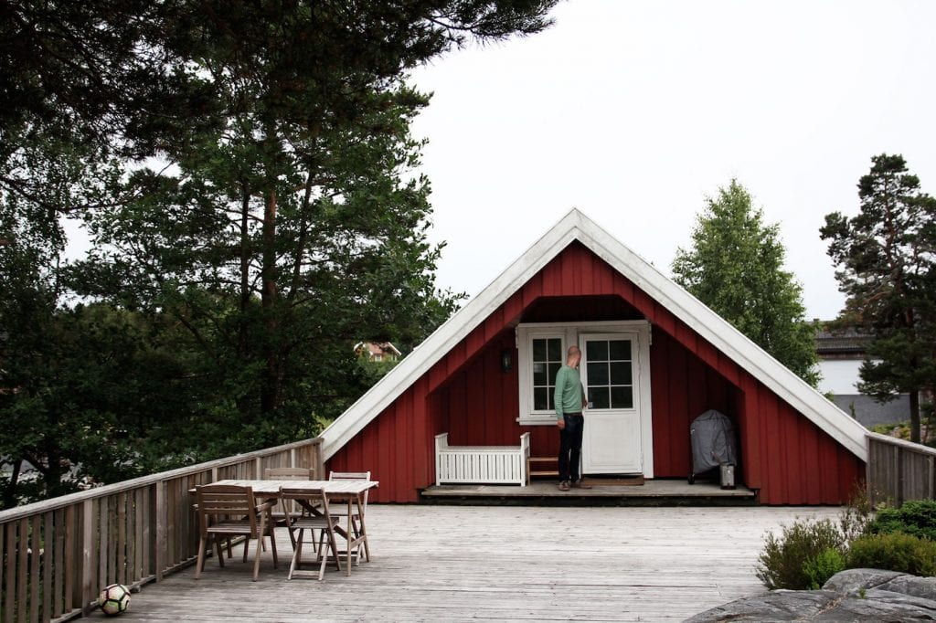 noorwegen roadtrip Airbnb vlak bij Grimstad huisje