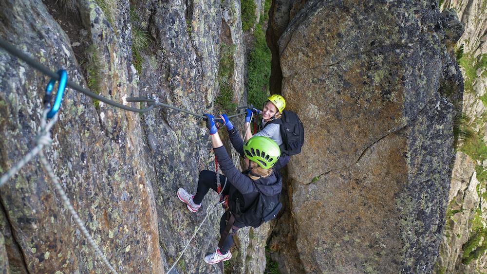outdoor activiteiten in stubaital zomer Klettersteigen