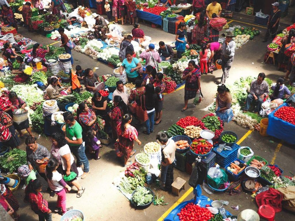 overdekte markt guatemala Chichicastenango chichi