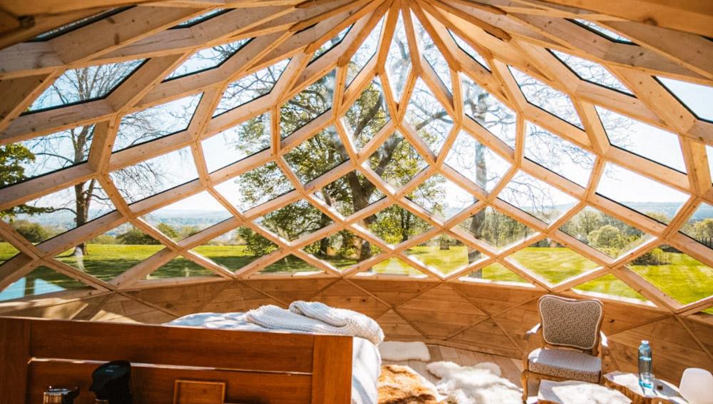 overnachten in een bubbel tent