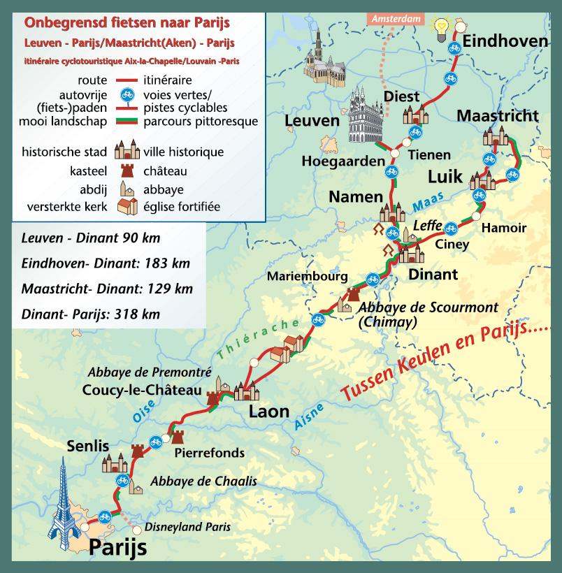 overzichtskaart cyclingeurope.nl
