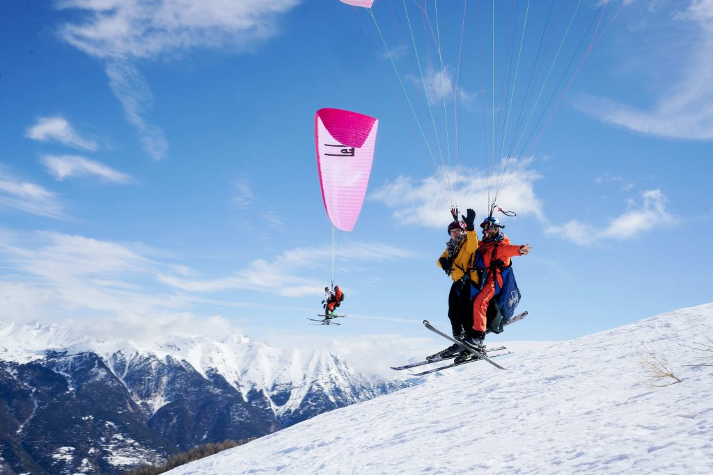 paragliden frankrijk wintersport