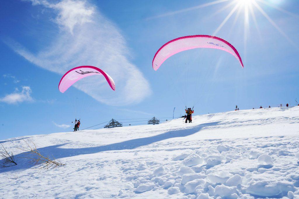 paragliden wintersport frankrijk