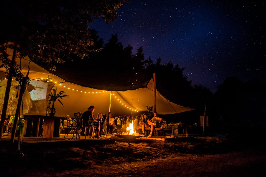 pop up camping winterwoods