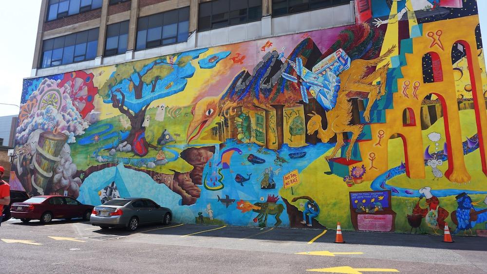 reis naar philadelphia streetart