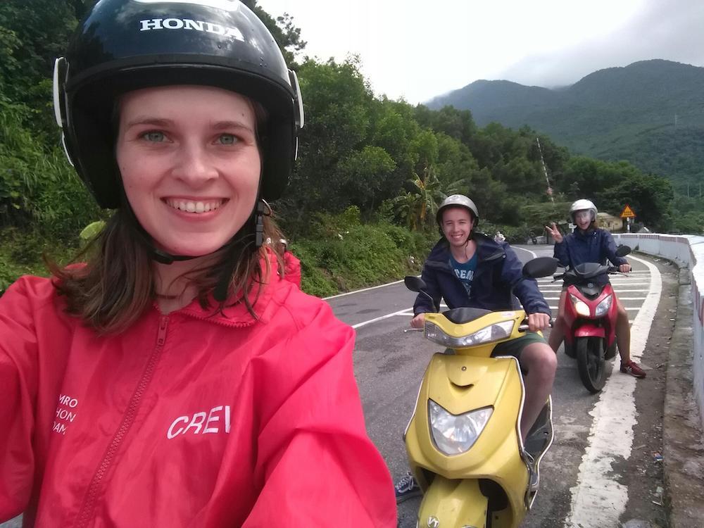 reizen beperking weinig energie scooter in vietnam