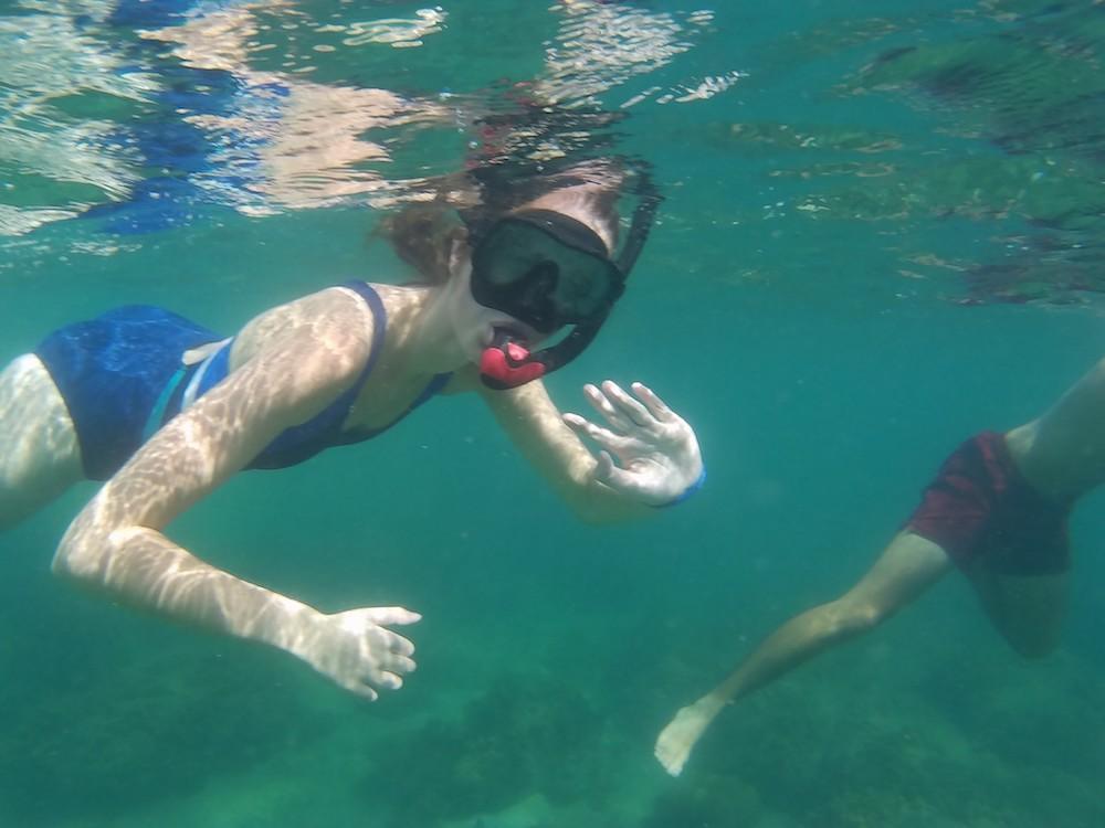 reizen weinig energie beperking snorkelen