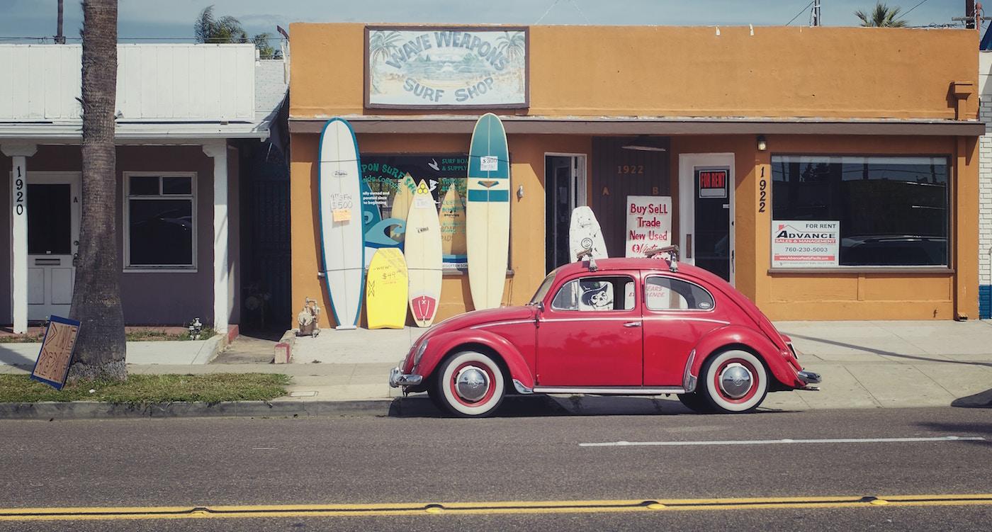 rit naar surfkamp