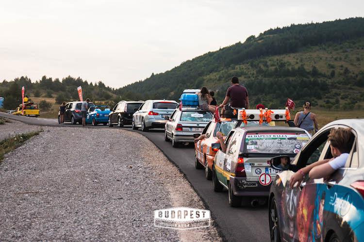 roadtrip route van de The Budapest Rally