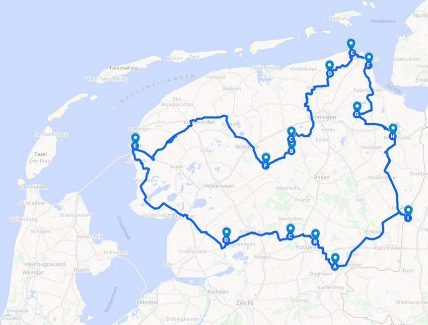 roadtrip wereldreis route door nederland