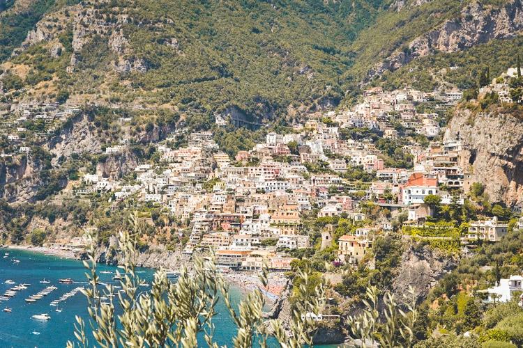 rondreis amalfikust Uitzicht op Positano