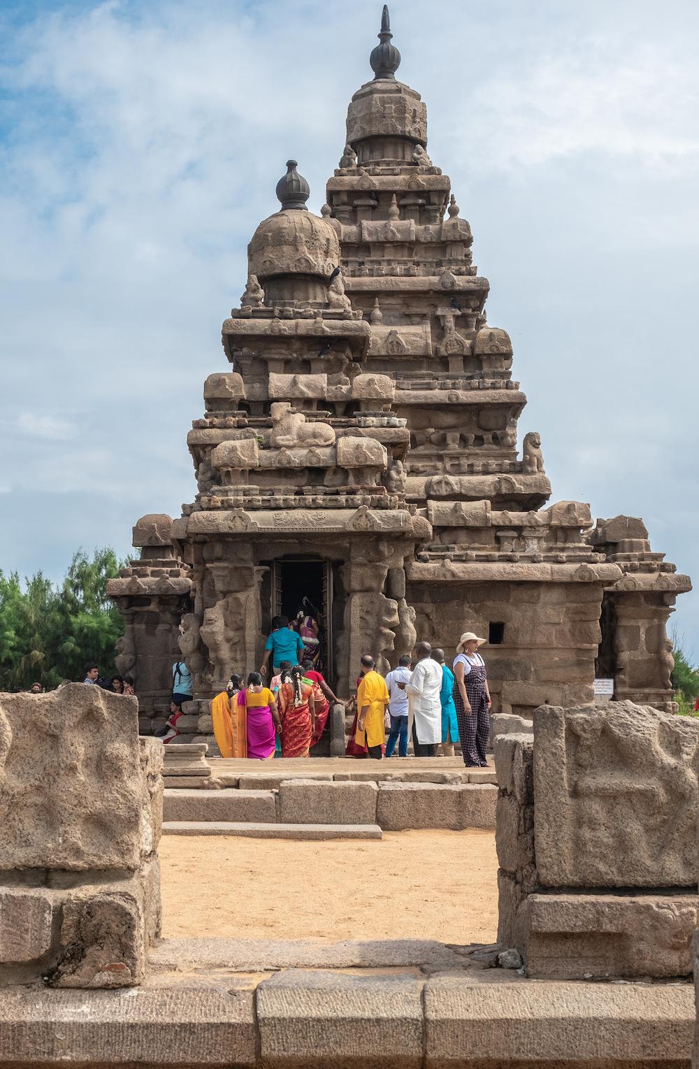 rondreis zuid india Mahabalipuram shore temple