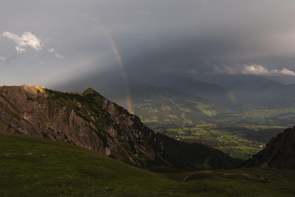 schladming dachstein oostenrijk regenboog