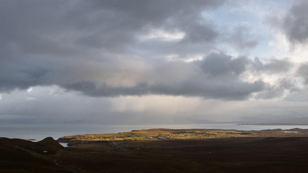 schotland roadtrip uitzicht op zee