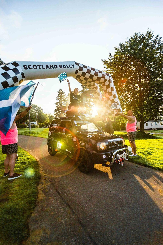 scotland rally wedstrijd roadtrip