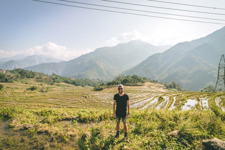simon op wereldreis rijstvelden