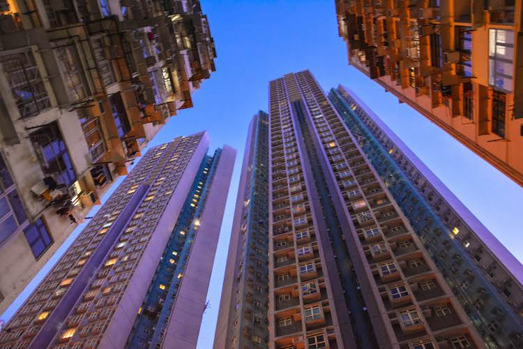 skyscrapers in hong quarry bay