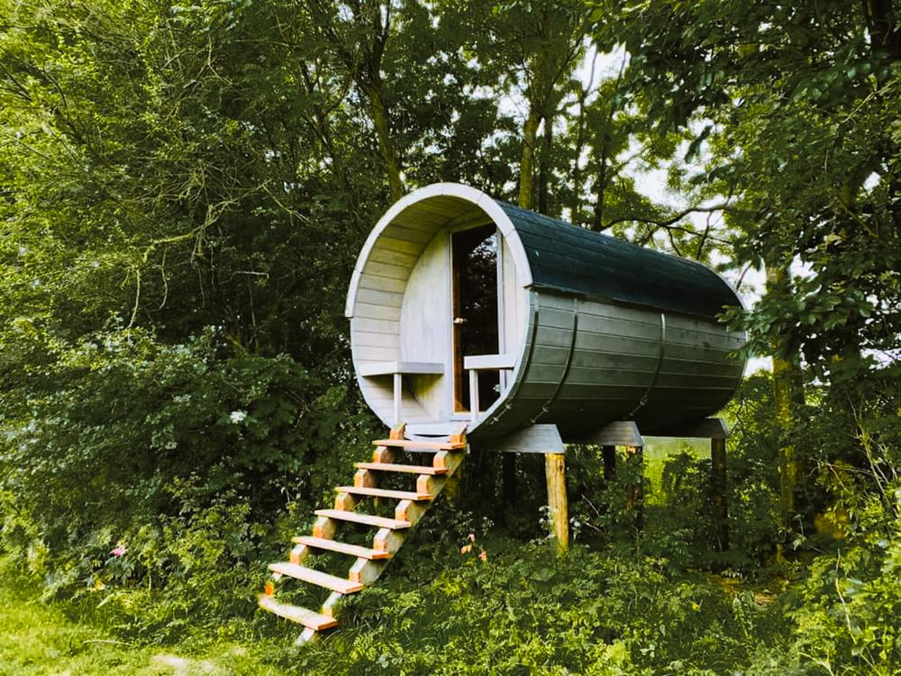 slapen in een boomhut Utrecht