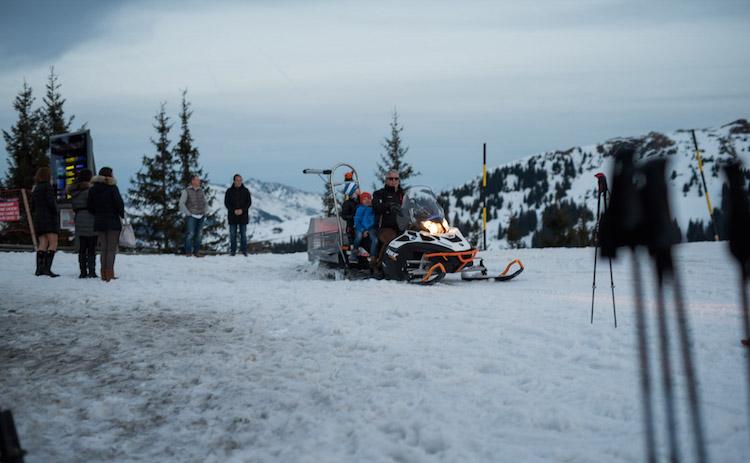 sneeuwscooter activiteiten kitzbuheler alpen oostenrijk