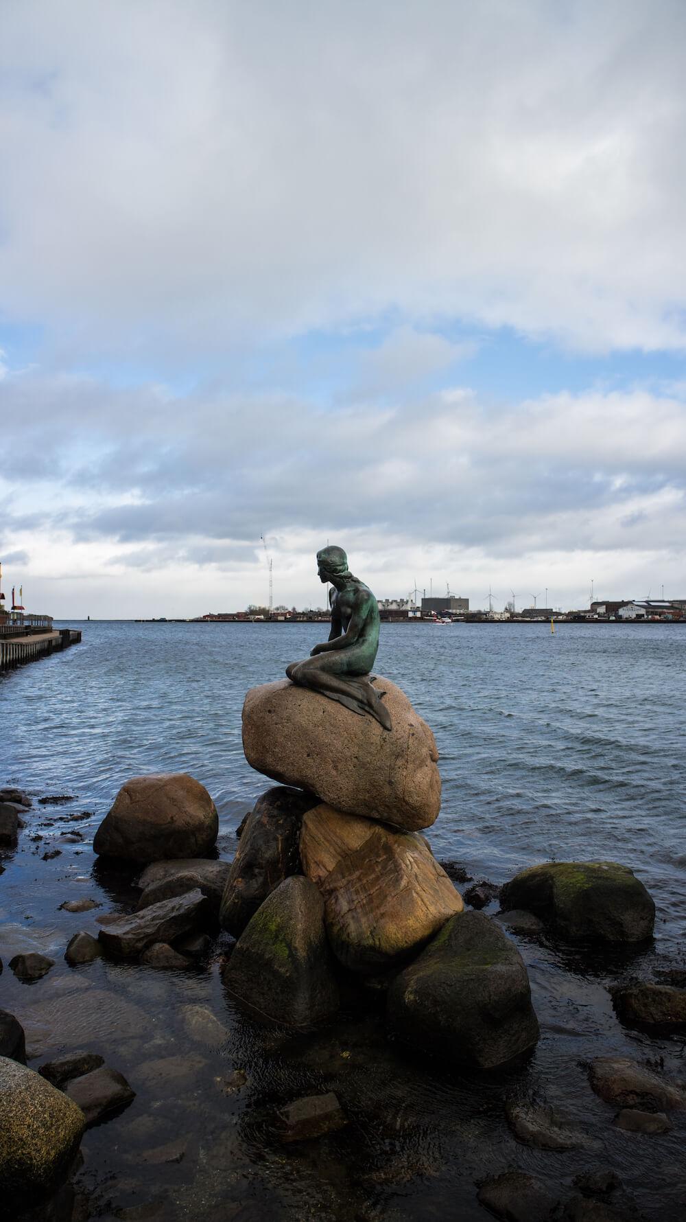 stedentrip kopenhageen Kleine Zeemeermin winter