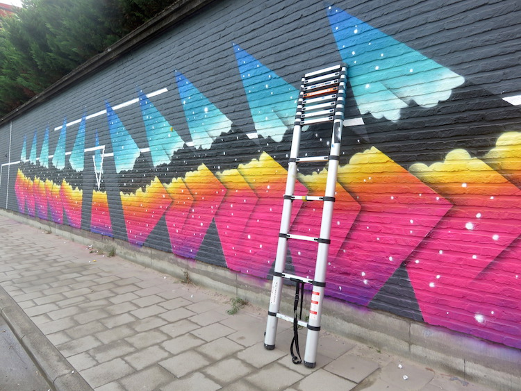 streetart gent Muur met kleurtjes