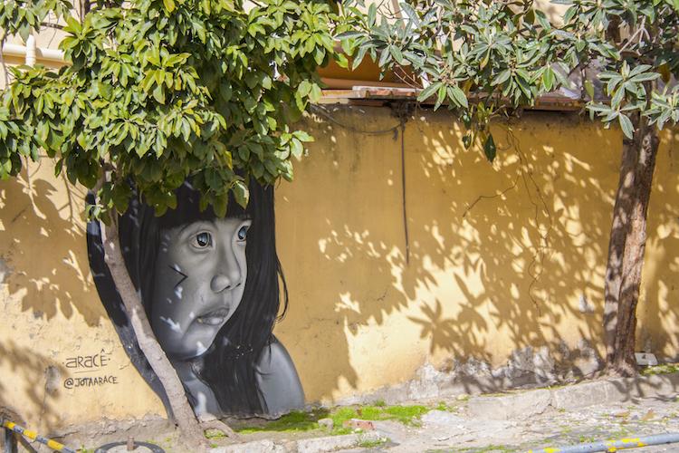 streetart lissabon bij LX Factory