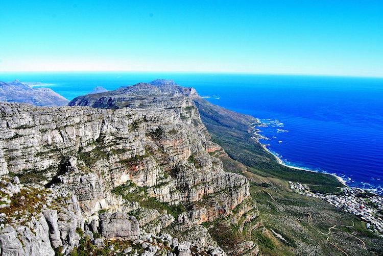 tafelberg klimmen Kaapstad uitzicht