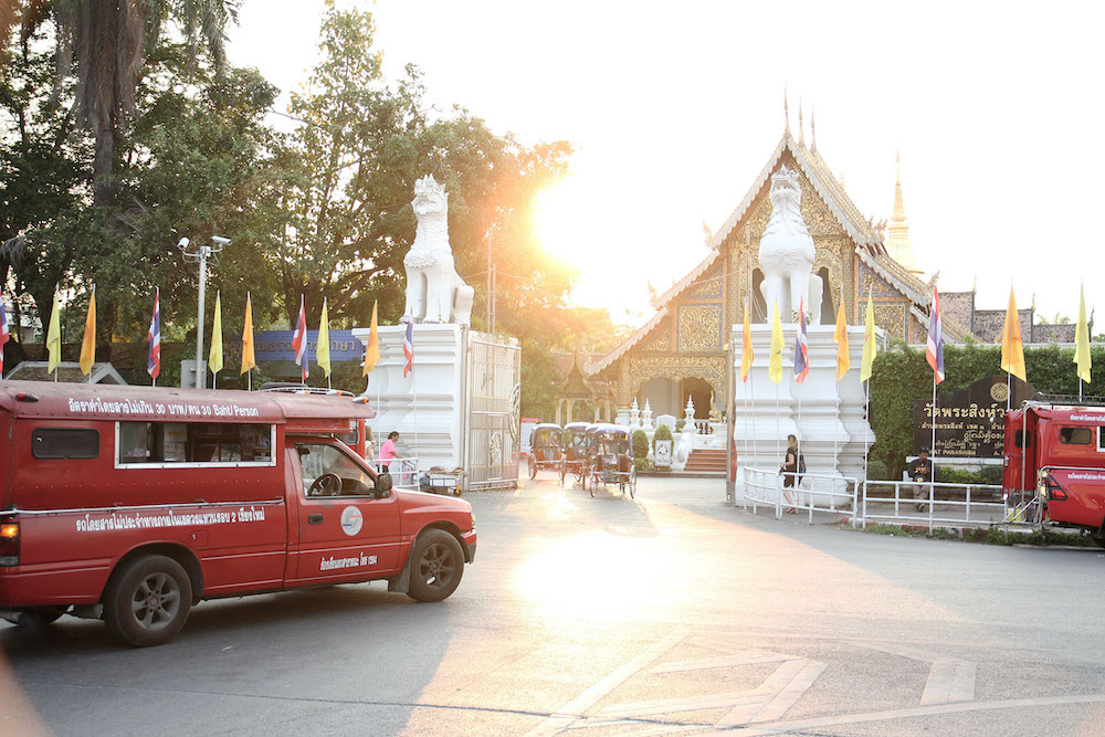 tempels Chiang Mai in Thailand