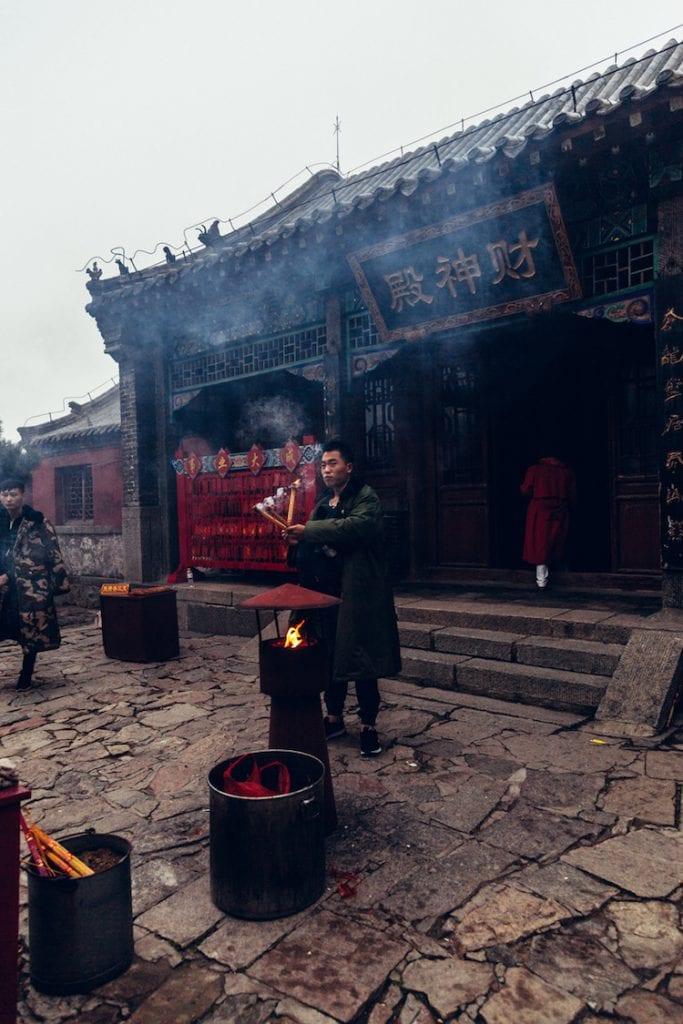 tempels taishan china heilige berg