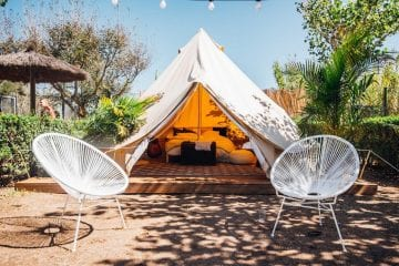 the surf lodge tipi's.