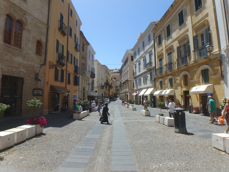Sardinie dorpje