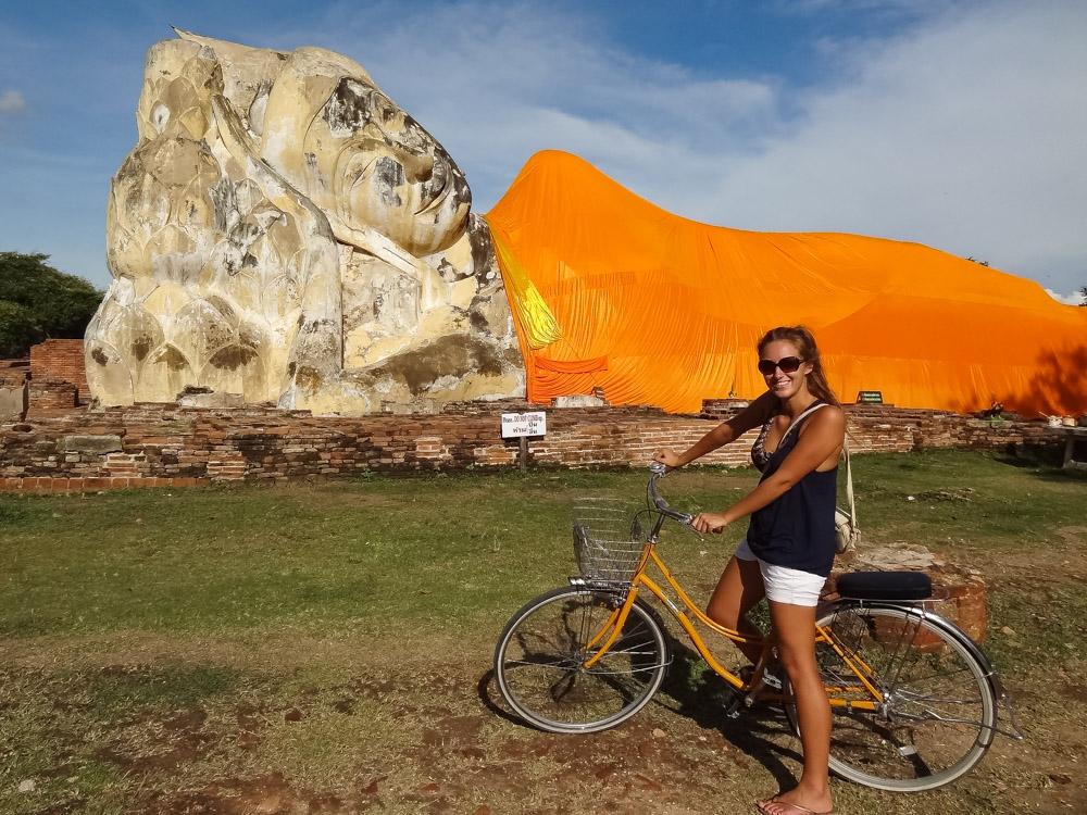 tips liggende boeddha Ayutthaya thailand fietsen