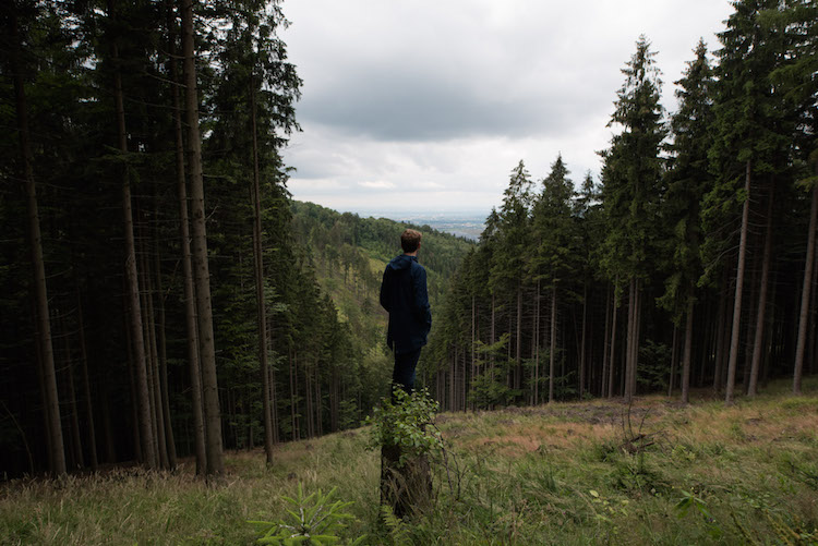 tsjechië Beskydy Mountains uitzicht