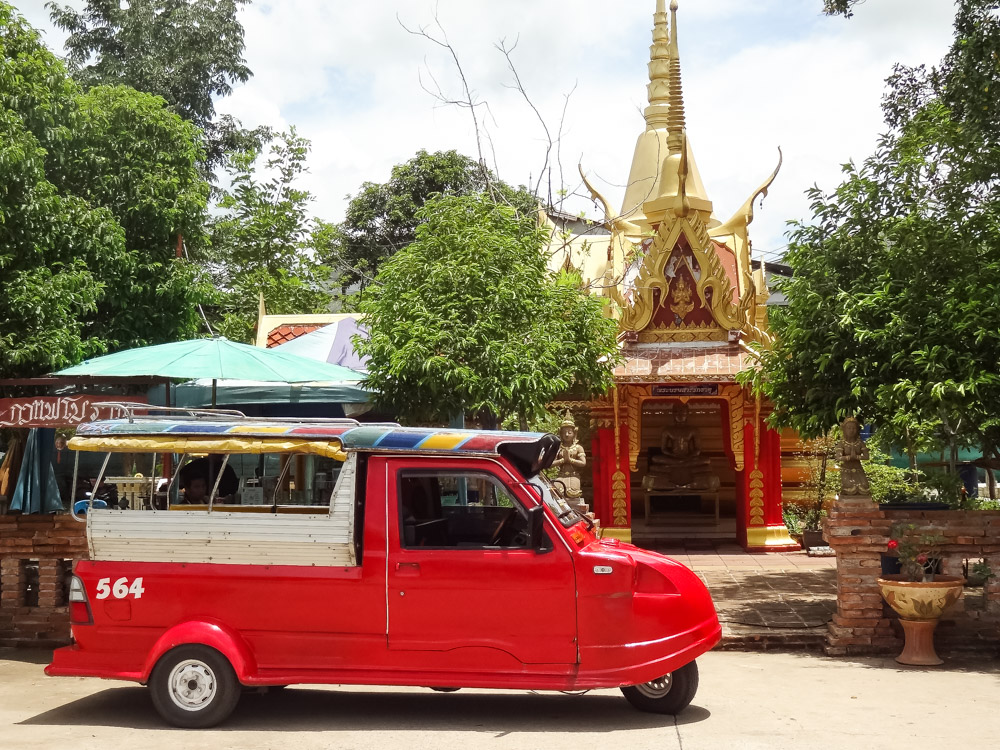 tuktuk in Ayutthaya thailand