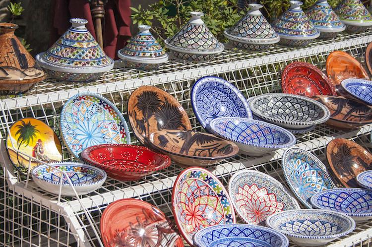 tunesie markt vakantie souvenirs