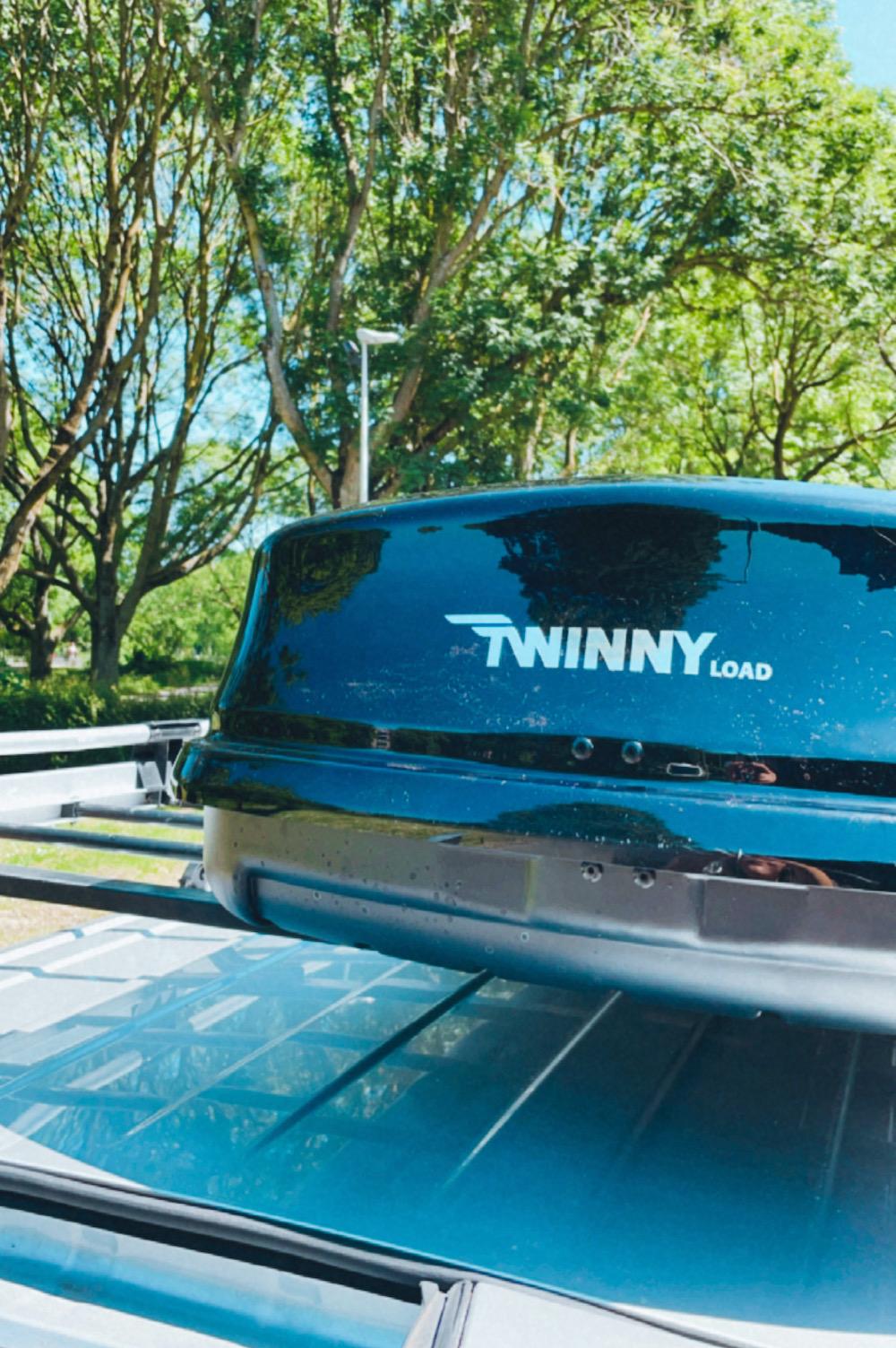 twinny load op imperiaal camper
