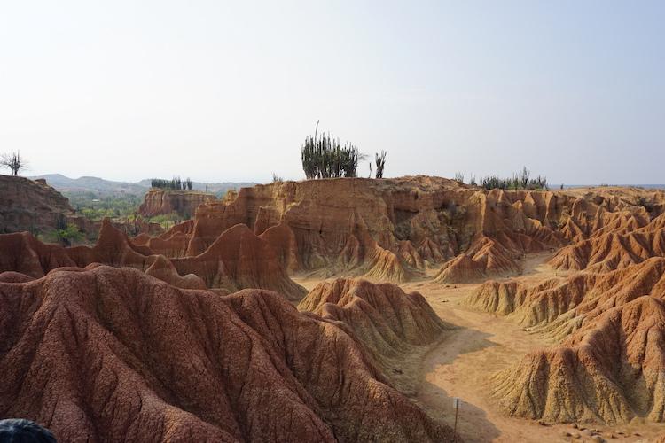 uitzicht in tatacoa woestijn colombia